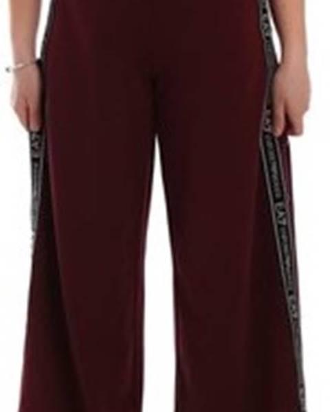 Červené kalhoty Emporio Armani EA7