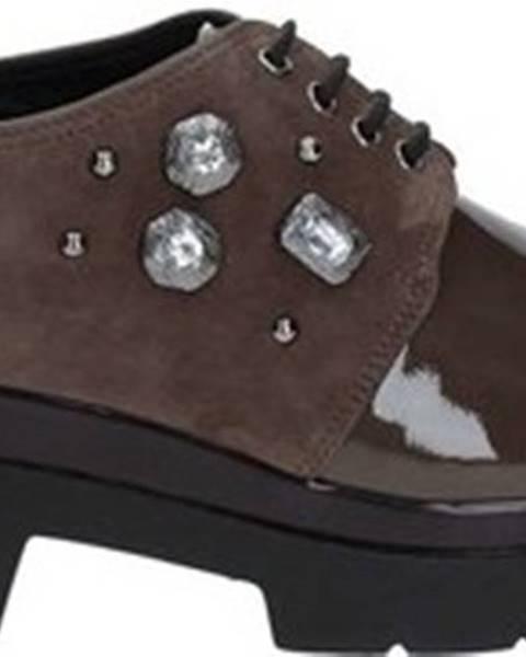 Hnědé polobotky Grace Shoes