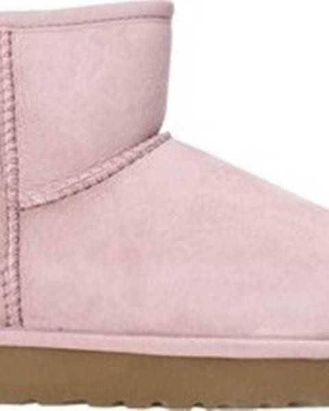 Růžové boty ugg