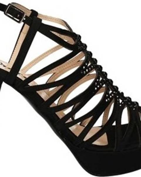 Černé sandály Grace Shoes