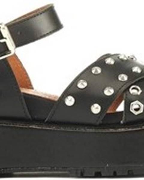 Černé sandály LUMBERJACK