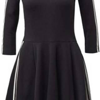 adidas Krátké šaty Šaty 3-Stripes Černá
