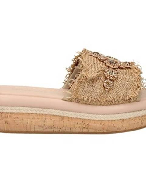 Béžové pantofle Emanuélle Vee