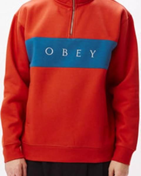 Červená bunda Obey