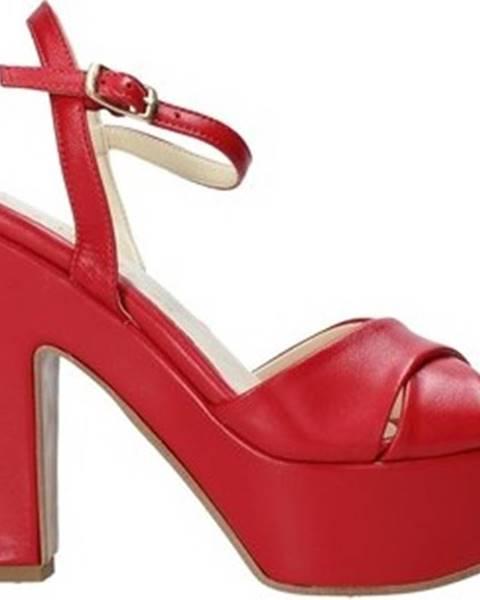 Červené sandály Esther Collezioni