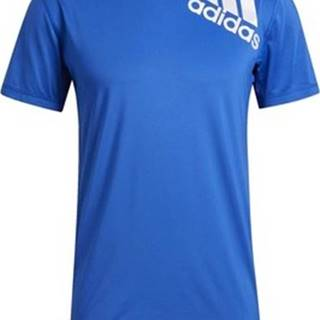 adidas Trička s krátkým rukávem Tričko Alphaskin 2.0 Sport Fitted Short Sleeve Modrá