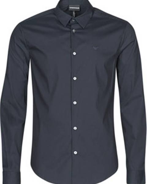 Modrá košile Emporio Armani