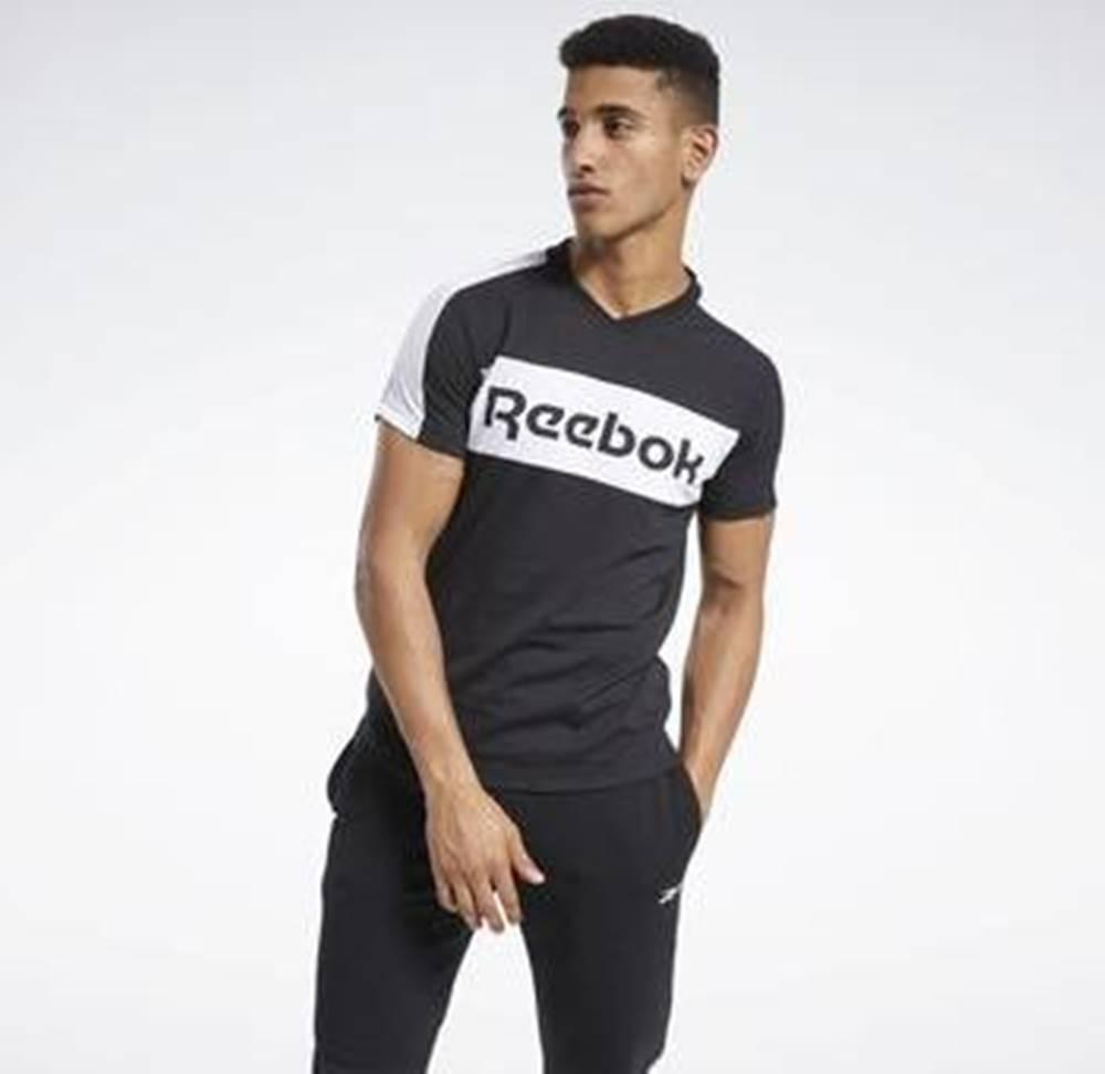 Reebok Sport Trička s krátkým rukávem Training Essentials Linear Logo Graphic T-Shirt Černá
