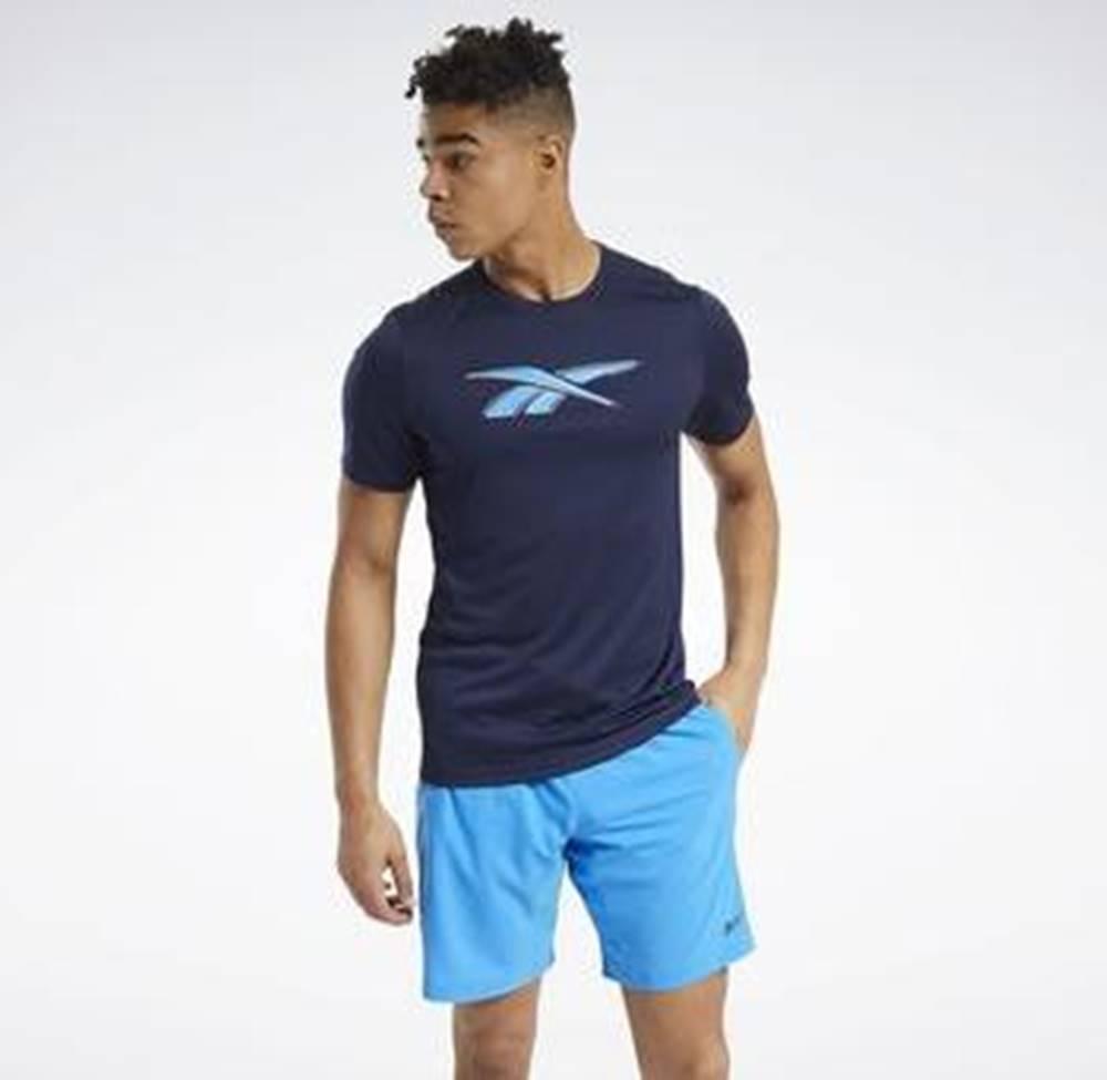 Reebok Sport Trička s krátkým rukávem Workout Ready Graphic T-Shirt Modrá