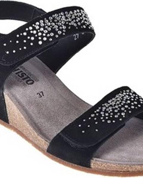 Černé sandály Mephisto