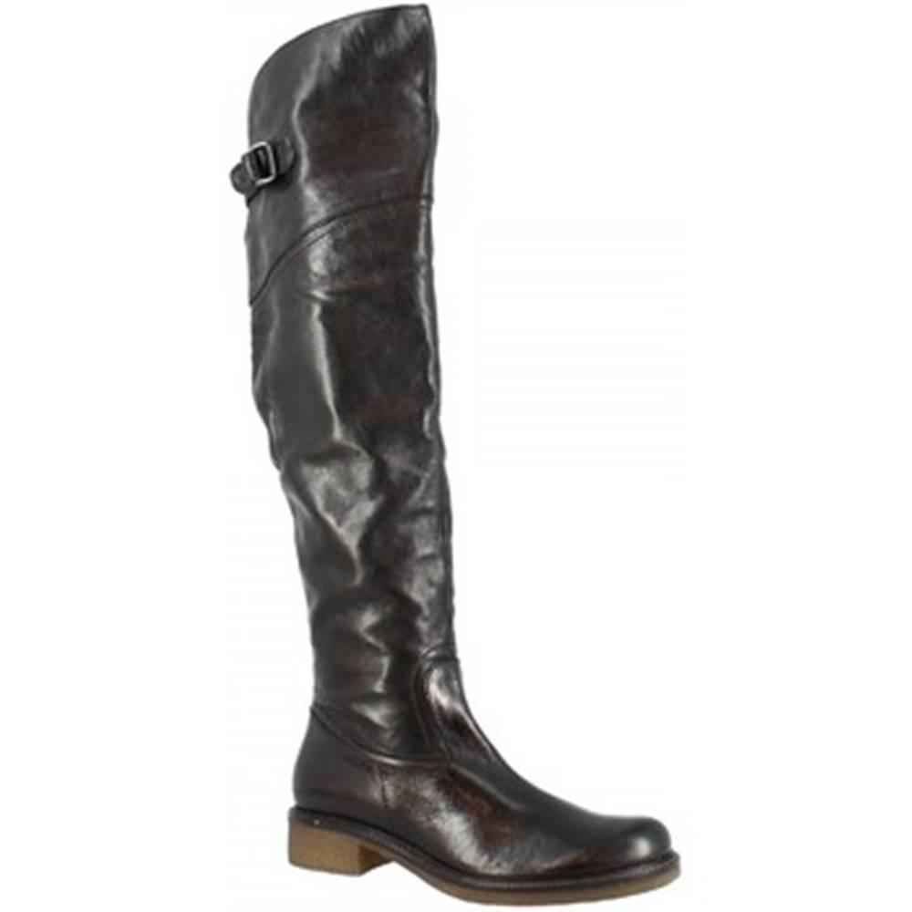 Leonardo Shoes Vysoké kozačky nad kolena D06590CHI6 . CL01 CALIFORNIA NERO Černá