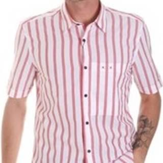 Košile s krátkými rukávy MMSS00154 FA420084 Červená