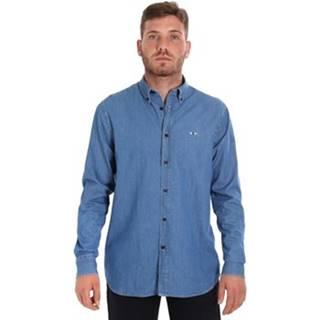 Košile s dlouhymi rukáv 9U2361 Modrá