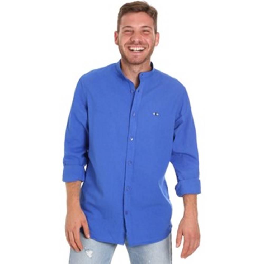 Les Copains Košile s dlouhymi rukáv 9U2722 Modrá