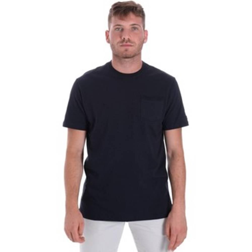 Les Copains Trička s krátkým rukávem 9U9010 Modrá
