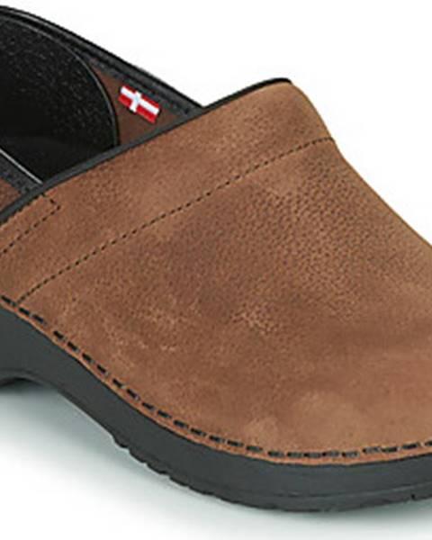 Hnědé pantofle Sanita