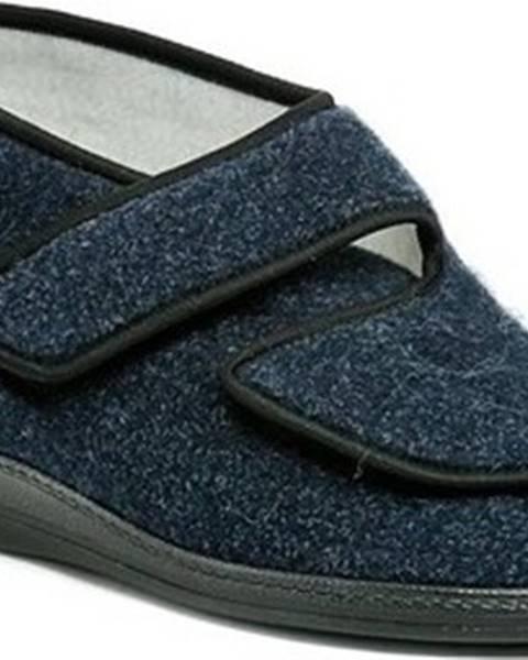 Modré domácí boty Arno