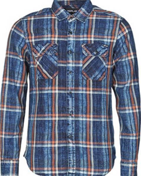 Modrá košile Replay